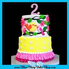 Sweet Tweet 1st Birthday Cake