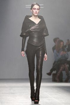 Future Fashion, avant-garde, futuristic fashion, black clothing, black trousers, futuristic style, shoes, futuristic clothing, fashion girl, by FuturisticNews.com