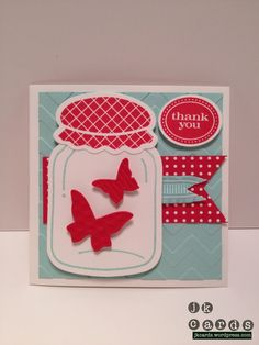 """Stampin' Up!, Perfectly Preserved, Cannery Framelits Dies, Beautiful Wings Embosslit, Chevron Embossing Folder, Summer Smooches DSP, Pool Party 3/8"""" Ruffled Ribbon, Small Oval Punch"""