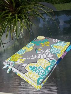 sewn composition book cover with pocket