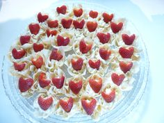 A bit of LOVE on a plate - strawberry kisses anyone?