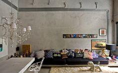 Móveis de concreto decoram ambientes modernos. Saiba como usar - Decoração - iG