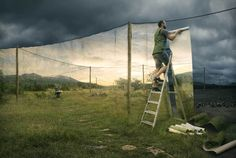 Surreal Distorted Reality by Photographer Erik Johansson.