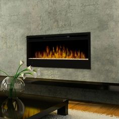 Give your home a modern and futuristic touch of sophistication with the Dimplex Linear Wall-Mount Electric Fireplace (BLF50).
