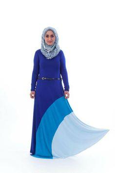 Beautiful blue hijabi dress