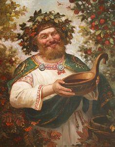 Квасура ( древнерусский бог веселья и урожая), автор Шишкин Андрей. Артклуб Gallerix