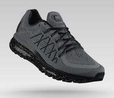 timeless design 6c1d6 809f3 2015 Nike Air Max Custom Color Dark Grey with Black Accents + Speckled Air  Bag to match dark sweaters   jeans.