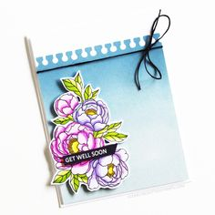 Stamps: Pick A Peony, Flagged Sentiments / Stencils: Tear Away Love Your Smile, My Love, Clear Stamps, Peony, Stencils, Flag, Scrapbook, Journal, Travel