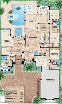 I'm not a fan of mediterranean style, but I like the floor plan and the flow...