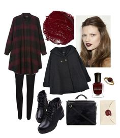 """""""Oxblood"""" by kasidhe-kleinworth ❤ liked on Polyvore featuring French Connection, Deborah Lippmann and 3.1 Phillip Lim"""