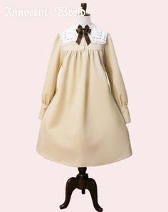 Innocent World 四角い衿のはしごレースワンピース