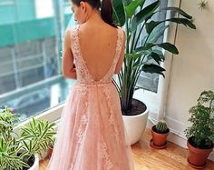Light Ash Gray Floral Wedding Dress by WeekendWeddingDress on Etsy