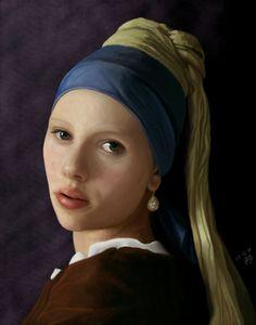 Pigen med perle øreringen af: Dorte K. Nielsen