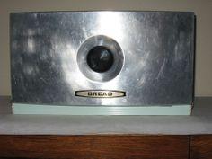 Aluminum Breadbox Bread Box Vintage Green Large Retro