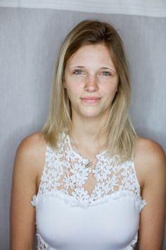 Das gehasste Vorher Bild :-) Vor jedem Sedcardshooting bei unserer Agentur.   So sieht das Model Regina aus Karlsruhe ohne Makeup aus. Wir finden sehr gut :-)