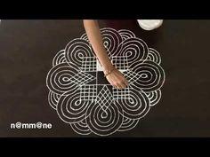 Learn Beautiful Padi Kolam with just 4-2 dots - YouTube