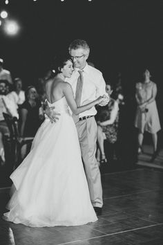 """My dad and I danced to James Taylor's """"You Can Close Your Eyes"""". James Taylor is one of my favorites since childhood and has always reminded me of my dad. There were tears (and probably laughs at a failed spin or two). EMOTIONS. Watch more of my wedding happenings in the """"My Dear"""" video - http://www.youtube.com/watch?v=9ddTAQGUNhs"""
