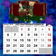 Januar Weihnachts kalender Blatt 2014