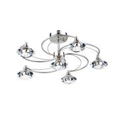 Dar Lighting Luther 6 Light Semi-Flush Ceiling Light & Reviews   Wayfair UK