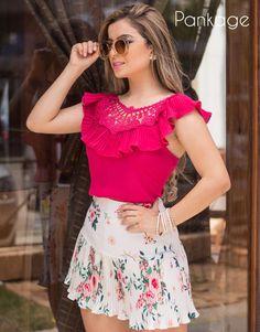 Short Skirts, Shirt Blouses, Ruffle Blouse, Style Inspiration, Crop Tops, Boutique, Womens Fashion, Casual, Crochet
