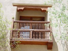 I would like a balcony just like this one, please.  via Affordable Adobe.