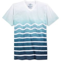 American Rag Men's Sea Sick Ombre Wavy-Stripe V-Neck T-Shirt, (17 CAD) ❤ liked on Polyvore featuring men's fashion, men's clothing, men's shirts, men's t-shirts, basic navy, mens vneck shirts, mens striped shirt, mens v neck t shirts, mens striped t shirt and old navy mens shirts