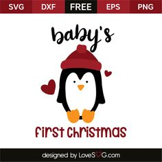 babys first free svg svg files for cricut Baby's 1st Christmas Ornament, Babys 1st Christmas, Christmas Vinyl, Christmas Quotes, Christmas Design, Christmas Phrases, Christmas 2017, Cricut Svg Files Free, Cricut Fonts