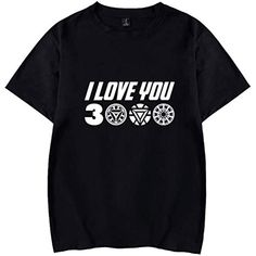feedf39fb FLYCHEN Niño Camisetas de Manga Corta i Love You 3000 Iron Man T-Shirt  Avengers