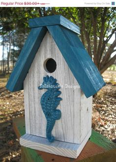 30% OFF TODAY Reclaimed Barnwood Birdhouse,Nautical Birdhouse,Beach Birdhouse,Distressed Rustic Birdhouse, Primitive Birdhouse, Reclaimed wo