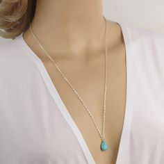 multi bar pendant necklace simple gold and silver plated double chain blue beads sequins necklace for women best gift #Affiliate