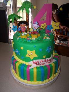 Creation Station Dora Birthday Cake Ideas
