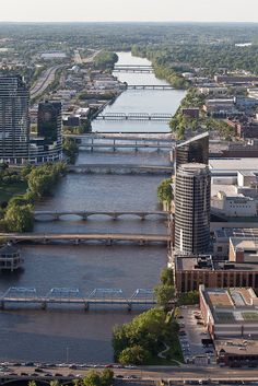 Bridges On The Grand River: Grand Rapids, MI.