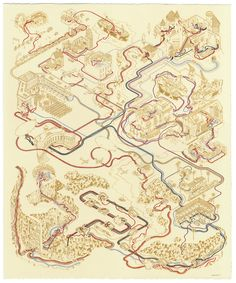 Andrew DeGraff -- Star Wars and Indiana Jones plot poster/maps