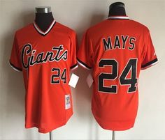 San Francisco Giants Mens Jerseys 24 Willie Mays Throwback Baseball Jerseys