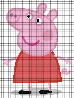 Diy Crafts - Peppa Pig (Chart/Graph AND Row-by-Row Written Crochet Instructions) – 02 Intarsia Knitting, Jumper Knitting Pattern, Knitting Charts, Baby Knitting Patterns, Crochet Pixel, Crochet Chart, Cross Stitching, Cross Stitch Embroidery, Embroidery Patterns