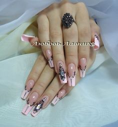 Soft Nails, Fancy Nails, Trendy Nails, Pink Nails, Gel Nails, Acrylic Nail Designs Coffin, Best Acrylic Nails, Nail Designs 2017, Nail Art Designs