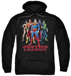 Justice League In League Pull Over Hoodie
