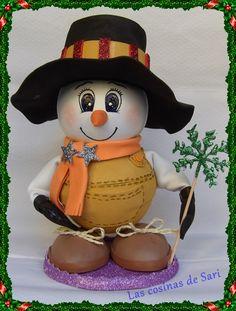 Las cosinas de Sari: Muñeco de nieve en goma eva https://lascosinasdesari.blogspot.com.es/