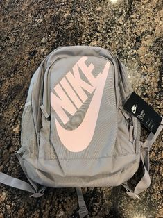 Nike Hayward Futura M 2.0 Backpack BookBag Grey Light Pink Casual BA5217  027  Nike   48ebc2f09dcaa