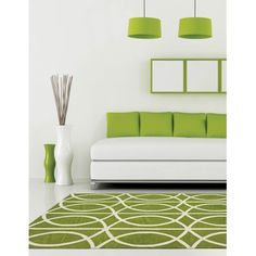 10 Ways to Decorate Using Pantone's 2017 Colorful Rugs: Greenery Color 2017, Color Of The Year 2017 Pantone, Pantone Color, Yoga Studio Design, Feng Shui, Decoration Inspiration, Yoga Inspiration, Pantone Greenery, Green Rooms