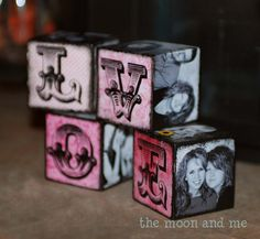 The Moon and Me: Family Photo Blocks