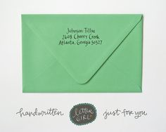 Sunshine Handwritten Address Stamp: your choice of by lettergirl