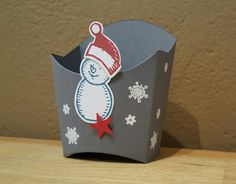 Schneemann Pommes-Box Stampin up Stampin Up, Container, Box, Craft, Boxes, Canisters
