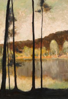 Lesser Ury for sale at acution Lesser Ury 1861 - 1931 GRUNEWALDSEE, BERLIN signed L. Ury. and dated 93 (lower right) oil on canvas 100 by 70.2cm., 39 3/8 by 27 5/8 in. Painted in 1893.