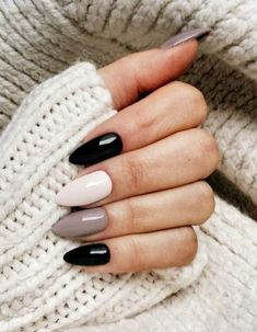 39 Trendy Fall Nails Art Designs Ideas To Look Autumnal and Charming - autumn nail art ideas fall nail art short nail art designs autumn nail colors dark nail designs coffin nails Fall Nail Art Designs, Black Nail Designs, Acrylic Nail Designs, Almond Nails Designs, Nail Color Designs, Best Nail Designs, Gel Polish Designs, Cute Acrylic Nails, Fun Nails