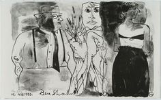 """""""The Artist and His Model - Ben Shahn"""""""