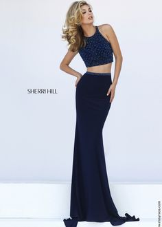 Sherri Hill 50062 Fitted Jersey Two Piece Dress