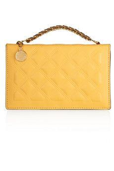 Stella McCartney Grace quilted faux leather clutch | THE OUTNET