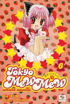 Ichigo Momomiya in her Cafe Mew Mew uniform. I have to say, her style has changed a whole lot since the old Mew Mew days. Tokyo Mew Mew, Manga Covers, Shoujo, Super Powers, Manga Anime, Old Things, Image, Random, Board