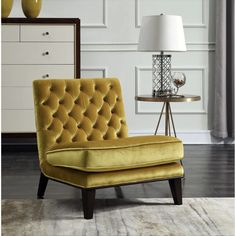 Chic Home Hector Gold Upholstered Velvet Modern Neo Traditional Tufted Slipper Accent Chair (Grey), Brown (Foam) Living Room Chairs, Accent Club Chairs, Chic Home, Tufted Accent Chair, Furniture, Velvet Chair, Accent Chairs, Tufted Chair, Upholstered Chairs